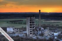 Altes Westfalen-Werk zu Sonnenuntergang