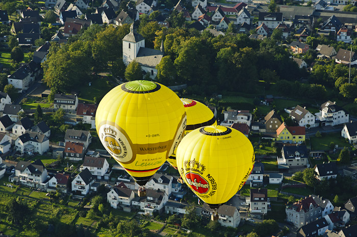 Ballonfahrt während der Warsteiner Montgolfiade 2011