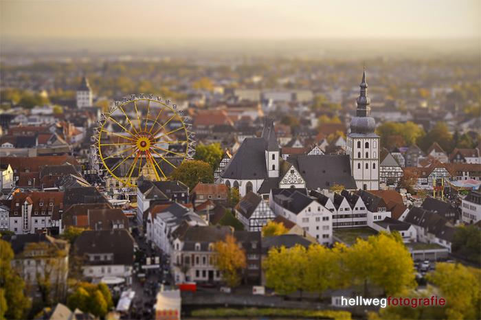 Lippstadt als Miniaturwelt  (Tilt-Shift-Effekt)