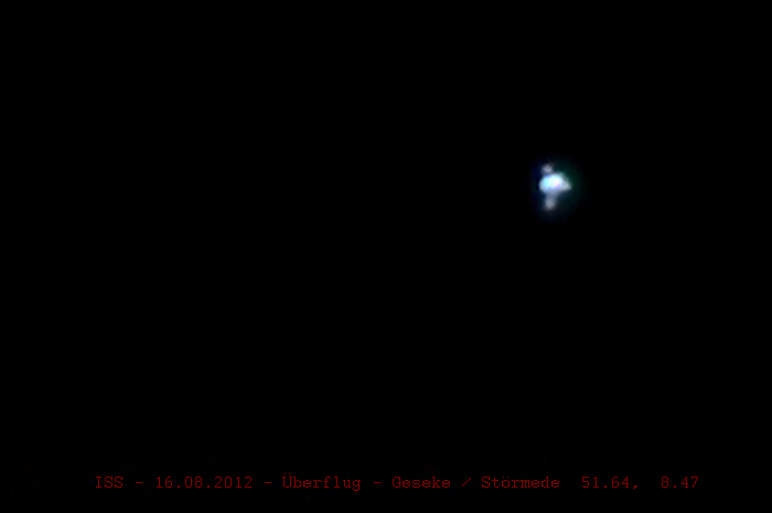 ISS-Überflug 16.08.2012