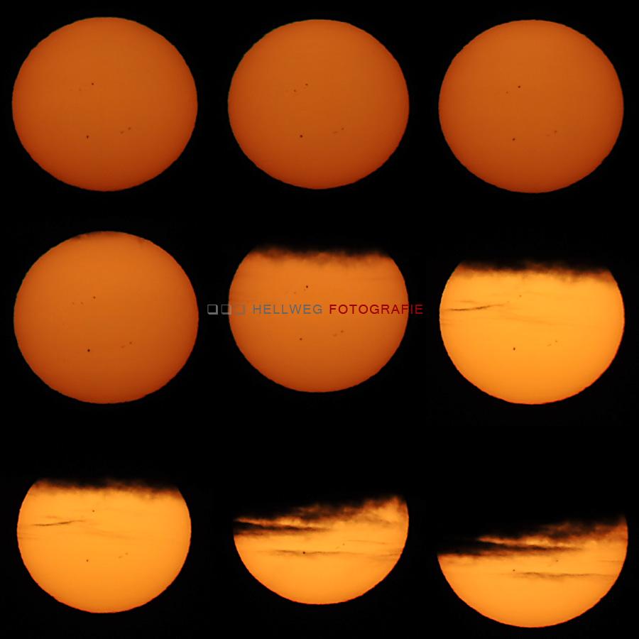 Sonnenaufgang vom 05.06.2012 mit Graufilter
